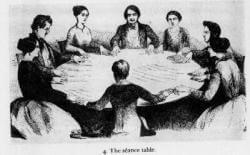 Spiritisme table tournante